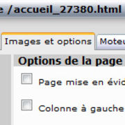 Image et options